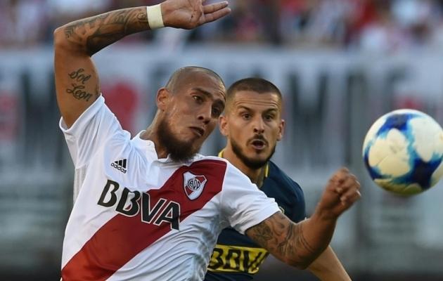 Jonatan Maidana Boca Juniorsi vastu mängimas. Foto: tn.com.ar