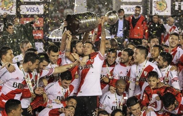 River Plate 2015. aastal Copa Libertadorese võitu tähistamas. Foto: golazoargentino.com