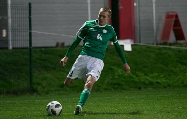 Vladimir Malinin sai liiga palju mänguaega Levadia U21 meeskonnas. Foto: Brit Maria Tael