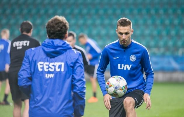 Karol Mets jäi esialgu koondise nimekirjast välja ja arvestades vigastuse iseloomu ning Eesti asukohta Rahvuste liiga tabelis, võib arvata, et olukord ei muutu. Foto: Brit Maria Tael