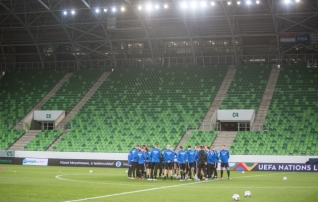 Galeriid: Ungari ja Eesti valmistuvad Budapestis mänguks