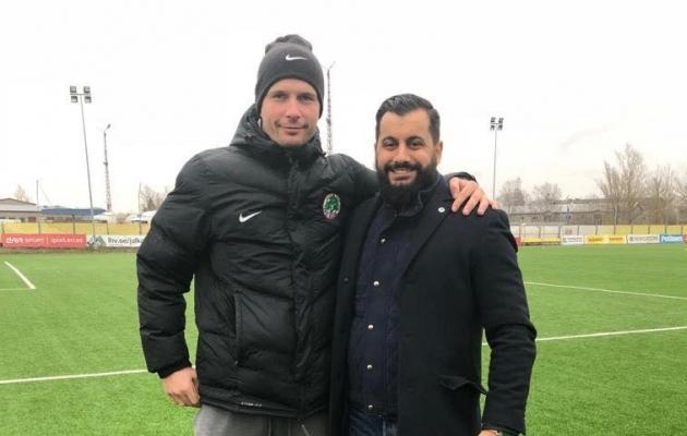 FC Elva tegevjuht Marek Naaris ja Rootsi treener David Roufpanah. Foto: Erakogu