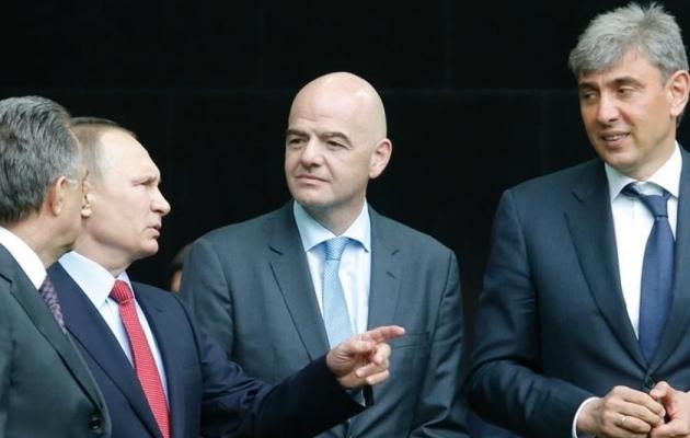 Mutko, Putin, Infantino ja Galitski. Foto: .elperiodico.com