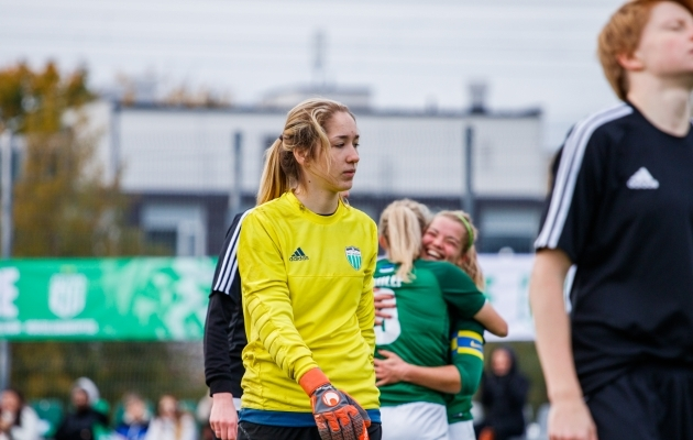 Eelmisel hooajal Levadia väravat kaitsnud Anastasija Zabello. Foto: Oliver Tsupsman