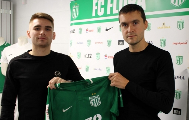 Pavel Dõmov (vasakul) ja Norbert Hurt. Foto: fcflora.ee