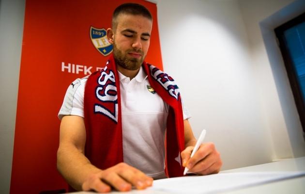 Graubergi esimeseks välisklubiks sai Soome kõrgliigas HIFK. Foto: HIFK-i Twitter