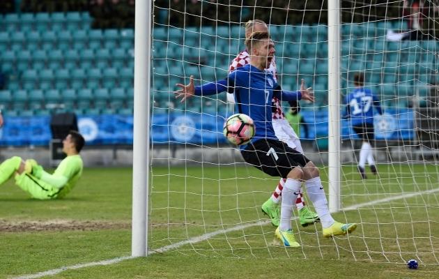 Üks Toometi viiest koondisemängust on mälestusväärne 3:0 võit Horvaatia üle. Foto: Imre Pühvel
