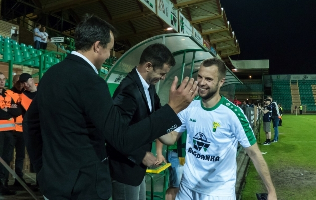 Sergei Mošnikov on mänginud kolmes Poola klubis. Viimati Leczna Gornikus. Foto: gornik.leczna.pl