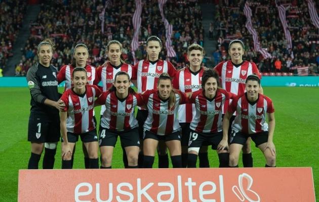 Athletic Bilbao naiskond enne karikamängu Atleticoga. Foto: Athletic Bilbao
