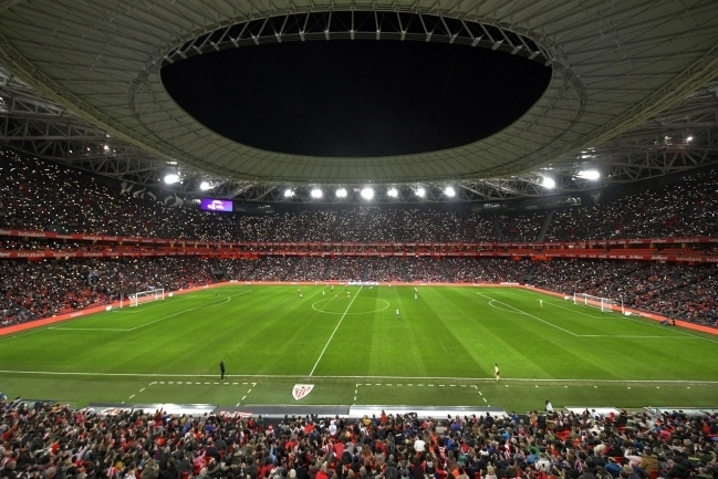 Athletic Bilbao kodustaadion San Mames eilsel mängul Atletico naiskonna vastu. Foto: Athletic Bilbao