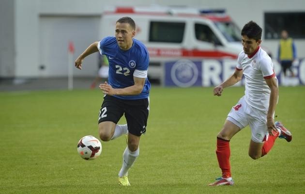 Hunt jõudis seitsmeks mänguks ka Eesti koondisesse. Foto: Imre Pühvel