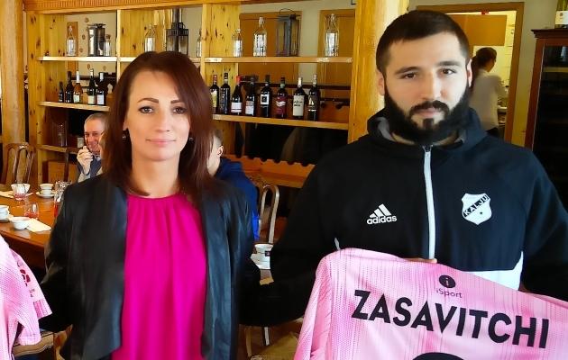 Kalju tegevjuht Ehte Eamets ja Eugen Zasavitchi. Foto: Nõmme Kalju FC