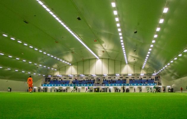 Eesti Jalgpalli Liidu jalgpallihall Lillekülas. Foto: Brit Maria Tael
