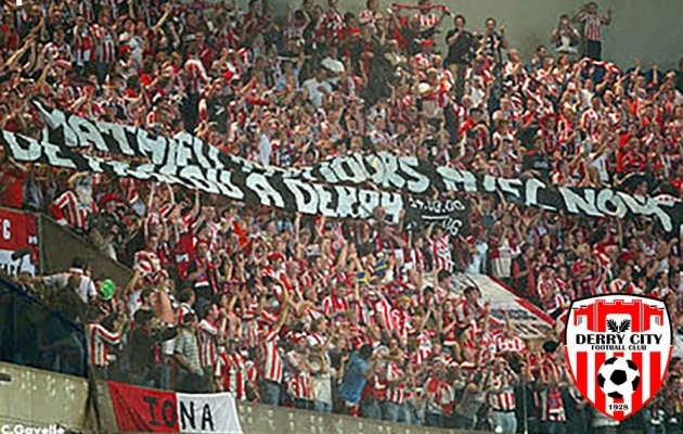 Ajalugu on Derryle sama tähtis kui jalgpall. Foto: Derry City FC koduleht