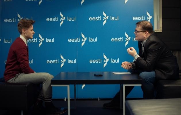 Laulja Ingeri intervjuu Soccernet.ee ajakirjanikule Ott Järvelale. Foto: Liisi Troska