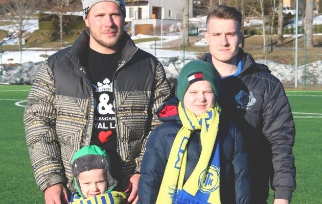 Neli venda Loigot: üks endine, kaks praegust ja üks tulevane jalgpallur. Ees vasakult Joosep ja Kaspar, taga vasakult Sander ja Illimar. Foto: JK Tulevik