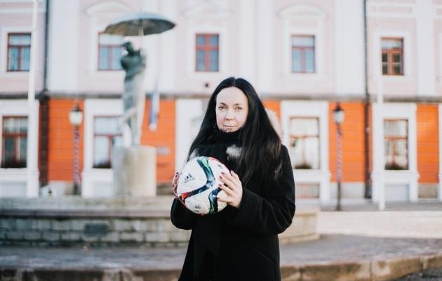 Keskerakondlasest Tartu abilinnapea Monica Rand on kauaaegne ja pühendunud FC Flora toetaja. Foto: Kiur Kaasik