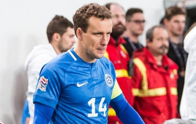 Eesti koondise raudvara Konstantin Vassiljev liitus FC Floraga. Foto: Jana Pipar