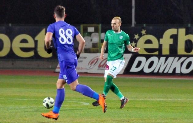 Nikita Baranov ei saanud küll Beroet aidata, kuid klubi võttis tähtsa võidu. Foto: Beroe.bg