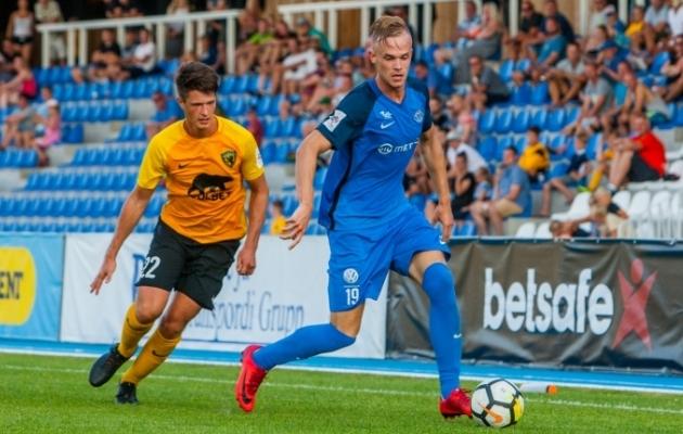 Tristan Koskor lõi 2018. aastal Premium liigas Tartu Tammeka kasuks 21 väravat. Kus ta 2019. aastal mängib, on esialgu lahtine. Foto: Gertrud Alatare
