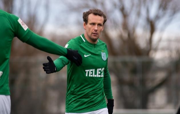 Konstantin Vassiljevi saabumine on tekitanud elevust nii Florasse kui kogu Eesti jalgpalliüldsusesse. Oma esimeses mängus lõi ta Transile kohe kaks väravat. Foto: Liisi Troska