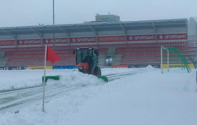Olukord Sportland Arenal teisipäeval kell 12.30. Foto: Ott Järvela