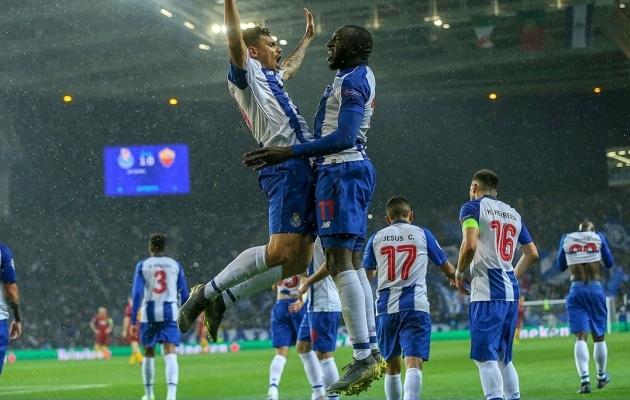 Alex Telles ja Moussa Marega tähistamas. Foto: Porto Twitter