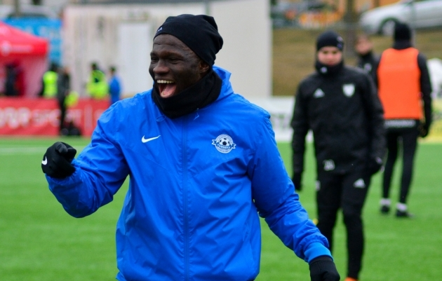 Frankline Okoye sai Maardu vastu kirja 45 minutit. Foto: Edgar Kriisk