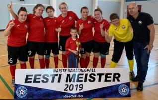 Naiste saalijalgpalli Meistriliiga võitis Pae United