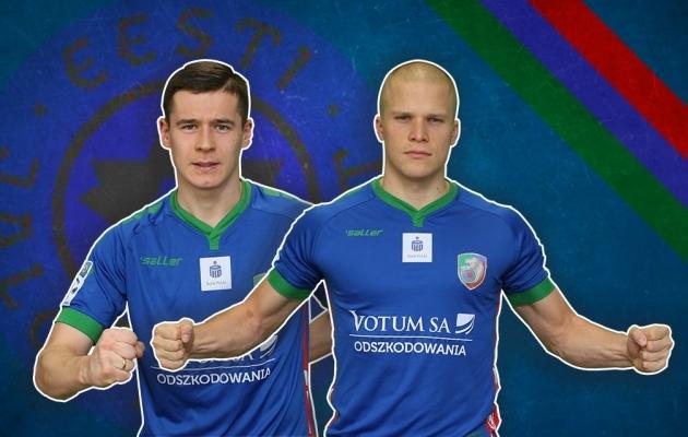 Koondislased Artur Pikk ja Henrik Ojamaa aitasid koduklubi nelja hulka. Foto: Legnica Twitter