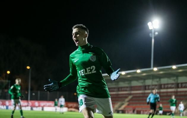FC Flora U21 ründaja Aleksandr Šapovalov. Foto: Brit Maria Tael