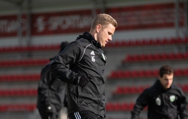 FCI Levadia äärekaitsja Markus Jürgenson on senises kahes käimasoleva hooaja mängus leppima vahetusmehe rolliga. Foto: Liisi Troska