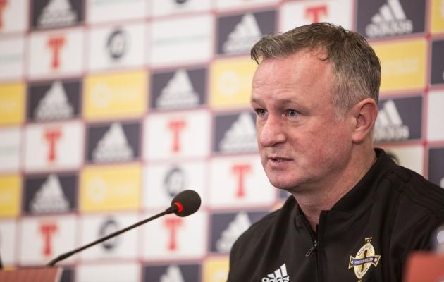 Põhja-Iirimaa jalgpallikoondise peatreener Michael O'Neill. Foto: Jana Pipar / EJL