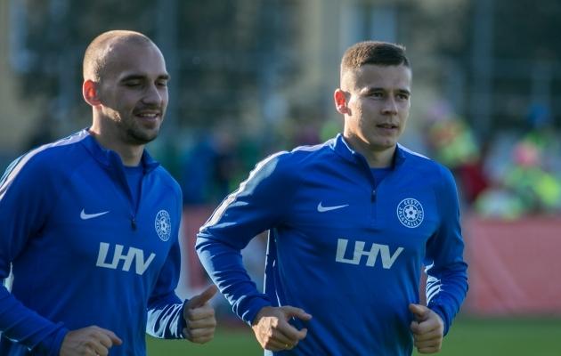 Nikita Baranov (vasakul) ja Artur Pikk tõusid Eesti koondise mängijateks Magnus Pehrssoni ametiajal ja on seda siiani. Foto: Brit Maria Tael