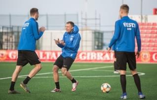 Galeriid: Eesti koondise treening ja pressikonverents Gibraltaril  (kolm mängijat treenisid eraldi)