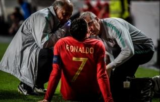 Tiitlikaitsja on hädas, Ronaldo langes juba pooltunni järel