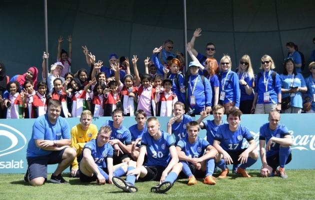 Eriolümpia jalgpallikoondis. Foto: EJL