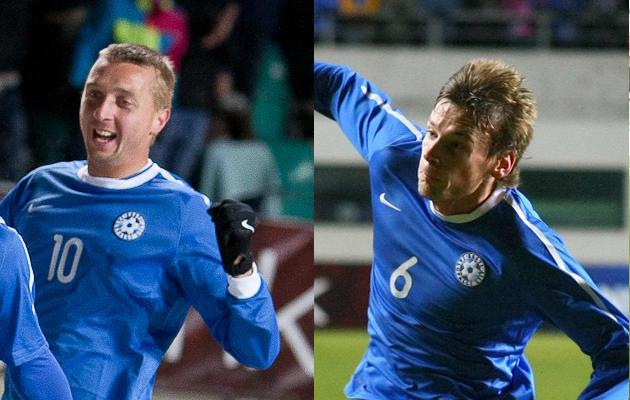 Vasakul Vjatšeslav Zahovaiko ning paremal Aleksandr Dmitrijev.