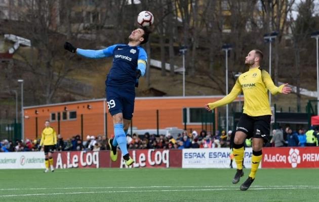 FC Kuressaare lahkus Viljandist 2:1 võiduga. Foto: Liisi Troska