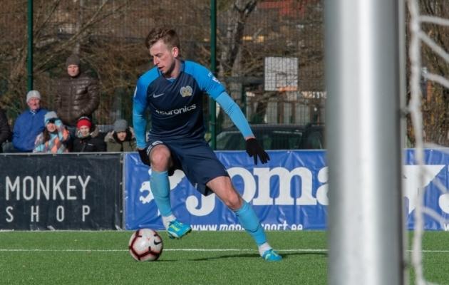 FC Kuressaare ründav poolkaitsja Sander Laht. Foto: Liisi Troska