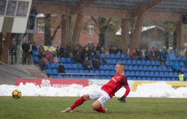 Artjom Škinjov näitas võitluslikku mängu. Foto: Liisi Troska (arhiiv)
