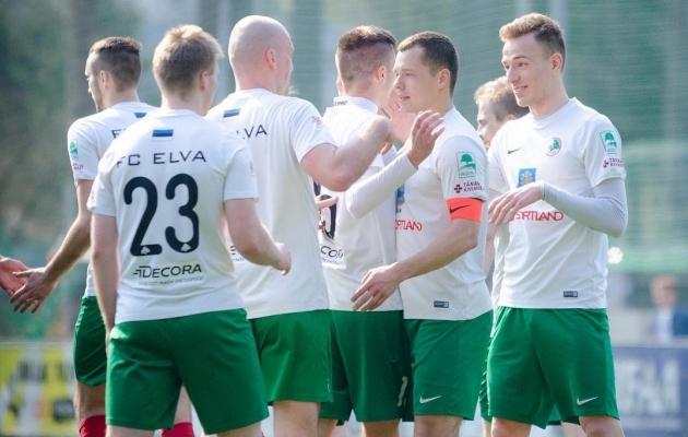 Elva võttis suure võidu. Foto: Jaak Jänes / Elva Vallavalitsus / FC Elva Facebook
