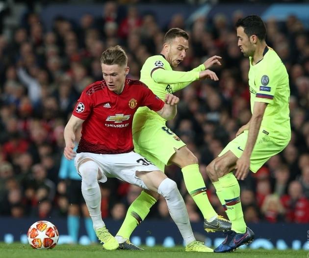 Manchester Unitedi üks õnnestujaid oli tänases kohtumises poolkaitsja Scott McTominay. Foto: Manchester Unitedi Twitter