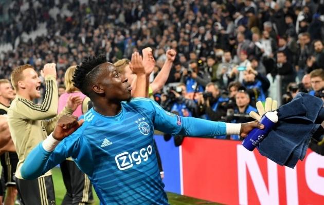 Amsterdami Ajaxi mängijad tähistavad vägevat võitu. Foto: Meistrite liiga Twitter
