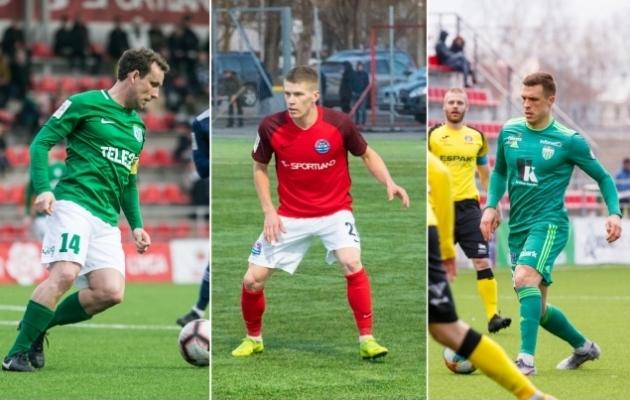 Konstantin Vassiljev (FC Flora), Joseph Saliste (Narva Trans) ja Jevgeni Budnik (FCI Levadia). Fotod: Brit Maria Tael, Dmitri Fedotkin, Oliver Tsupsman
