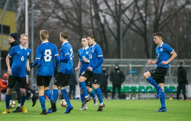 OTSEPILT: Eesti U17 koondis alustab turniiri Liechtensteini vastu  (Eestil juba kaks väravat löödud!)