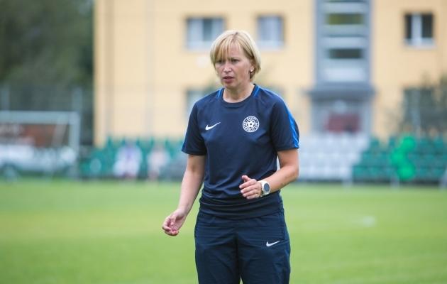 Koondise peatreener Kaidi Jekimova. Foto: Jana Pipar / jalgpall.ee