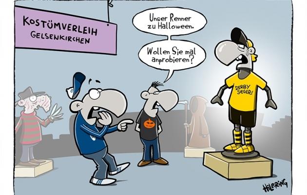 Schalke nali Dortmundi üle. Kostüümilaenutus: Halloweeniks pakume midagi sellist! Foto: playmasters.info