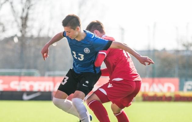 Vetkal duellis Liechtensteini noorega. Foto: Brit Maria Tael
