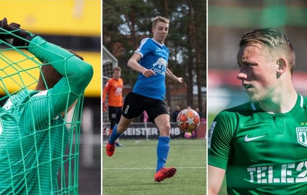 Premium liiga 8. vooru keskseks duelliks on Tallinna derbi FCI Levadia ja FC Flora vahel. Fotod: Liisi Troska, Brit Maria Tael ja Oliver Tsupsman